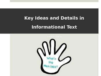 CCSS RI.3 - Key Ideas in Informational Text (RI.3.1, RI.3.
