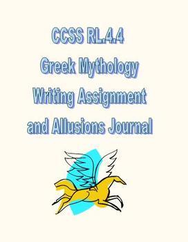 CCSS RL.4.4 Greek Mythology Assignment