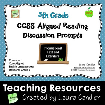 CCSS Reading Discussion Prompts (5th Grade)
