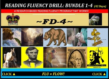 CCSS: Reading Fluency Drills 1-4. BUNDLED with Pre-Reading