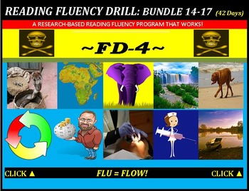 CCSS: Reading Fluency Drills 14-17. BUNDLED All with Predi