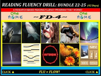 CCSS: Reading Fluency Drills 22-25. BUNDLED All with Predi