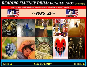 CCSS: Reading Fluency Drills 34-37. BUNDLED All With Predi