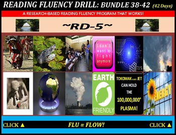 CCSS: Reading Fluency Drills 38-42. BUNDLED All With Predi