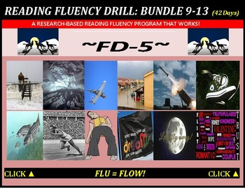 CCSS: Reading Fluency Drills 9-13. BUNDLED with Pre-Readin