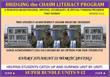 CCSS: ELA, Reading, & Vocab  BUNDLED UNITS 9-12: ALL WITH