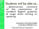 CCSS SWBAT Learning Goals Posters Grade 4 Language Standards