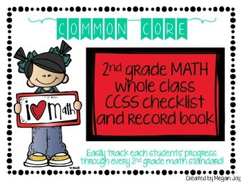 Second Grade Common Core (CCSS) Checklist: MATH