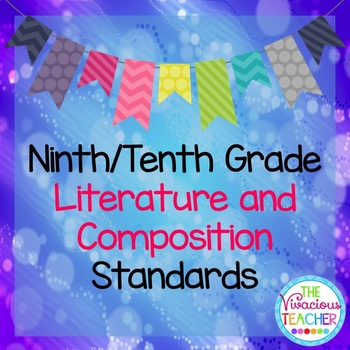 Common Core Standards Posters 9th/10th Grade Literature an