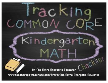 CCSS: Tracking Common Core K Math Checklist