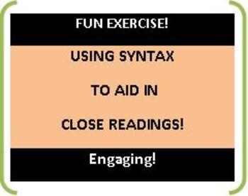 CCSS: Using Syntax Rules! Fun Exercises -- Close Reading A