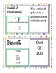 CCSS Word Wall Vocabulary Ratio Proportion Percent