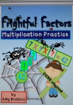 Halloween Math-Find the Factors- Multiplication Facts Practice