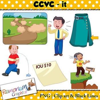 CCVC short vowel it clip art