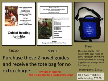 CD with study guides and a free teacher tote