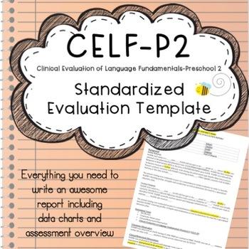 CELF-P2 Speech Evaluation Template