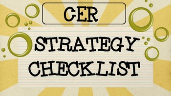 CER Strategy -- Claim, Evidence, Reasoning Student Friendl