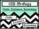 CER Strategy Posters -- Claim, Evidence, Reasoning