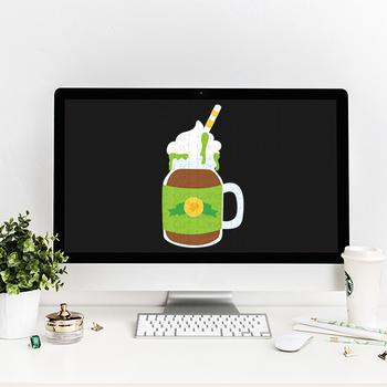 CF126 Irish Coffee Cut File