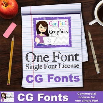 CG One Single Font License - Confetti Graphics One Single