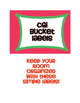 CGI Bucket Labels