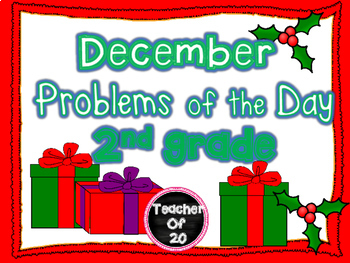 CGI Math Word Problem of the Day {December} 2nd Grade