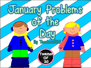 CGI Math Word Problem of the Day {January} 2nd Grade