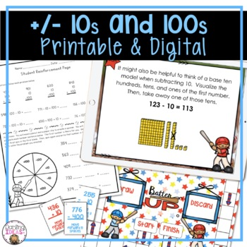 ADDING AND SUBTRACTING 10'S AND 100'S CCSS 2ND GRADE BASEB