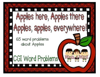 CGI Word Problems about Apples