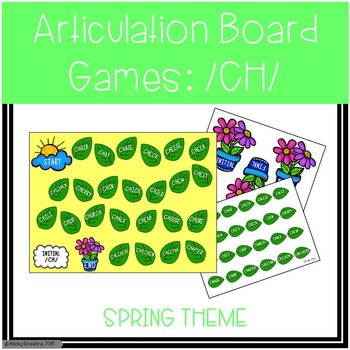 /CH/ Articulation Board Games - Spring Theme