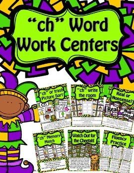 Digraph CH Word Work Centers