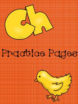 CH diagraph practice pages