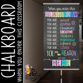 CHALK - Classroom Decor: SMALL BANNER, When you enter this