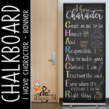 CHALKBOARD - Classroom Decor: LARGE BANNER, I have CHARACT