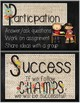 CHAMPS Behavior Management Mini Posters (Chalkboard and Bu