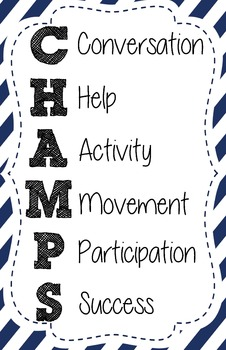 CHAMPS - Behavior Management - Posters - set of 6