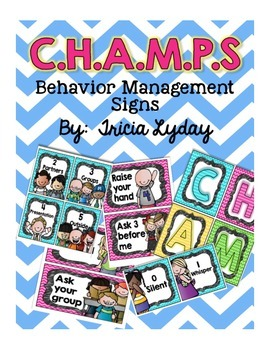 CHAMPS Behavior Management Signs