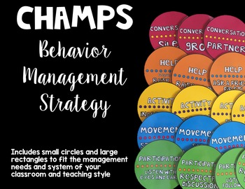 CHAMPS Behavior Management Strategy