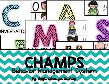 CHAMPS Behavior Management System {Teal Chevron}