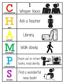 CHAMPS Behavior and Expectations Chart, Library