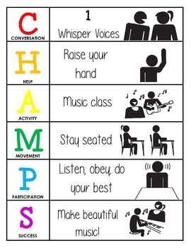 CHAMPS Behavior and Expectations Chart, Music