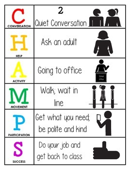 CHAMPS Behavior and Expectations Chart, Office
