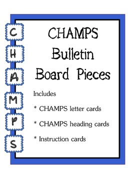 CHAMPS Bulletin Board Pieces / Blue Theme