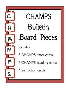 CHAMPS Bulletin Board Pieces / Red Theme