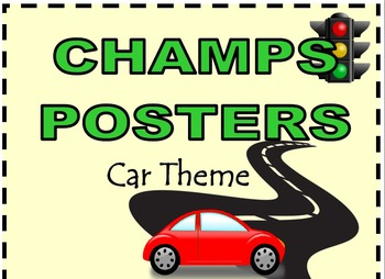 CHAMPS Posters Car Theme