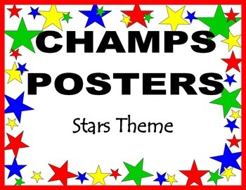 CHAMPS Posters & Classroom Decor Stars Theme