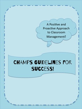 CHAMPS Classroom Management Board