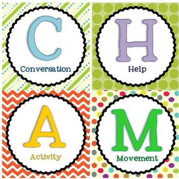 CHAMPS Classroom Managment set:  Brights