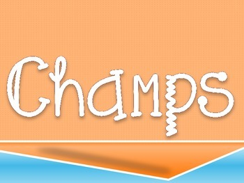 CHAMPS Clip Chart- Pink Orange and Blue