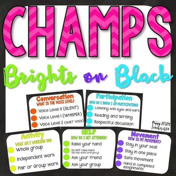 CHAMPS Clipchart [Brights on Black]
